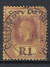 Ceylon KGV 1923 1r purple on pale yellow Die I SG354- used with Colombo CDS