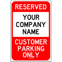 Reserved Customer Parking Only Custom Personalized Metal Business Sign 8x12