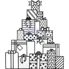 Sello de regalos de Navidad clara:: sweet Dixie sellos