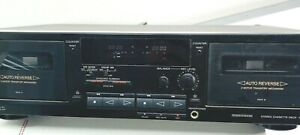 Sony TC-WR590 Dual Deck Cassette Recorder Tested  Working Condition