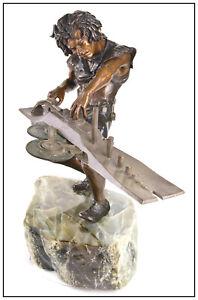 Martin Eichinger Ludwig Van Beethoven Mastery Bronze Sculpture Signed Music Art