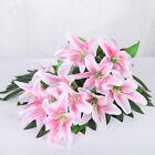 10 Heads Artificial Fake Lily Silk Flowers Bunch Home Wedding Garden Party Decor