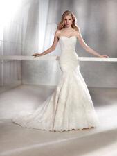 Tulle Portrait/Off-Shoulder Mermaid & Trumpet Wedding Dresses