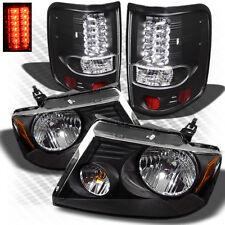 For 04-08 F150 Black Headlights + Black Philips-LED Tail Lights