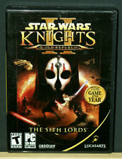 Star Wars: Knights of the Old Republic II -The Sith Lords(PC, 2005) with 4 Disks