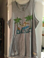"Billabong Sleeveless ""CHUGLIFE"" Mens Small  Gray New w/tag MSRP $28"
