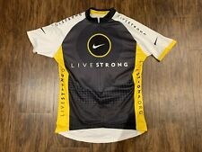 Mens NIKE Livestrong Lance Armstrong Cycling Jersey Size Medium M Bicycle