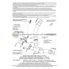 PER DUCATI MULTISTRADA 1200 T 2012 12 DECATALIZZATORE LEOVINCE IN ACCIAIO INOX C