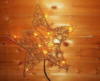 weihnachtsbeleuchtung warmweiss innen  deko Weidenstern mit 1,5m Kabel