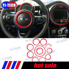 Red Mini Cooper F55 F56 11pcs Interior Front Decoration Ring Cover Set 2014-2016
