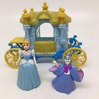 Disney Magic Clip Cinderella Carriage +Cinderella & Fairy Godmother Cake Toppers