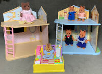 Maple Town Calico Critters Rooms Fox Bear Squirrel + Furry Friends Kitchen