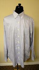PETER MILLAR White Blue Geometric Cotton Casual Button Down Shirt Sz XXL GG6236