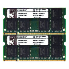 Kingston RAM SO DIMM DDR2 PC2 4GB (2GBx2) 6400S 200Pin 800Mhz Speicher [107]