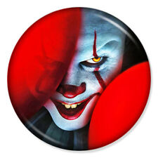 """IT PENNYWISE 25mm 1"""" Pin Badge Button HALLOWEEN SCARY MOVIE STEPHEN KING (3)"""