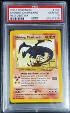 Pokemon PSA 10 Shining Charizard! Unlimited Holo from Neo Destiny! Mint! 107/105
