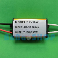 3x3W Waterproof AC/DC LED Driver 12V~24V Power Supply for 10W Lamp Light Bulb