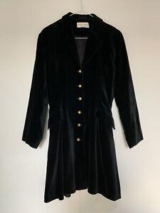Vintage Black Velvet Swing Coat/ Jacket