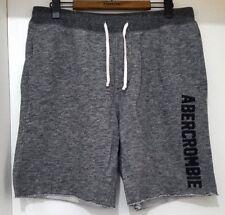 Nueva Abercrombie & Fitch para hombre Pantalones cortos de lana con el logotipo de Superdry en gris jaspeado, - L
