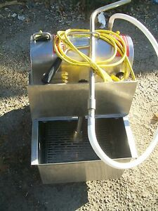 OIL /GREASE FILTERATION MACHINE, S/STEEL TANK, 115V,  READY , 899 ITEMS ON E BAY