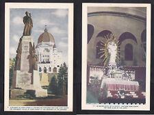 Vintage Postcard Lot CANADA - MONTREAL St. Joseph Oratory Monument & Crypt Altar
