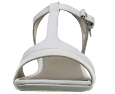 ECCO Women's Touch 25 S Ankle T Strap Leather White Sandal EU 40/ US 9-9.5