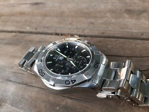 Tag Heuer Aquaracer CAF101E Swiss Made Chronograph S/Steel Men's Watch