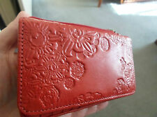 MABEL & LOU BRAND NEW LADIES LOVELY RED GENUINE LEATHER 14CM X 9CM WALLET