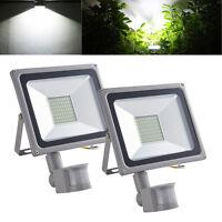 Cool White PIR Motion Sensor LED Floodlight 50W Security Flood Light Sensor 240V