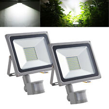 Cool White PIR Motion Sensor LED Floodlight 50W Security Flood Light Sensor 240V