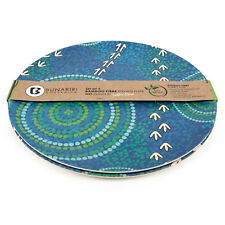Plate Bamboo Aboriginal Design - Wet Design - Luther Cora (Set of 2)