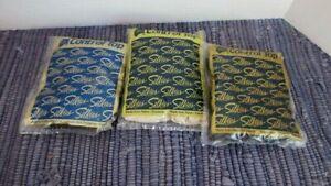 Silkies ~ 3 Pair Women's Pantyhose Control Top Panty Hose 2 Black 1 Ivory L