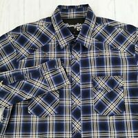 Wrangler 20x Competition Shirt Mens Large Pearl Snap Button Down Long Sleeve