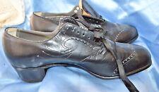 Antique Victorian Shoes Black Lace Up 9