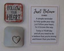bb Follow your heart JUST BELIEVE Pocket token charm ganz