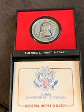 US MINT AMERICAS FIRST MEDALS GENERAL HORATIO GATES 38MM Pewter