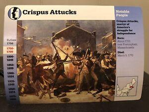 CRISPUS ATTUCKS The Boston Massacre Martyr 1996 GROLIER STORY OF AMERICA CARD