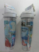 New! Pair of Tervis Disney Finding Dory 24 oz. Water Bottle Cups with Lids (2)