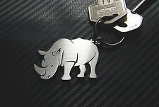 RHINO Rhinoceros African Animal White Black Keyring Keychain Key Novelty Gift