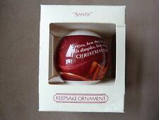 "Hallmark 1982 Santa Keepsake ""His Eyes, How They Twinkled!"" Glass Ornament"