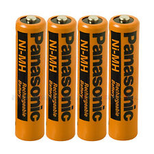 4X Panasonic AAA Rechargeable Ni-Mh Battery HHR-55AAAB 550mAh (4 Cordless phones