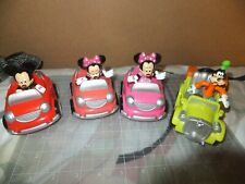 Lot of 4 Pair of Mickey Mouse Club house Convertible Car Mickey and Minnie Mouse