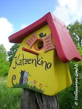 ORIGINAL die VOGELVILLA Nistkasten NISTMINI KATZENKINO gelb Vogelhaus Gartendeko
