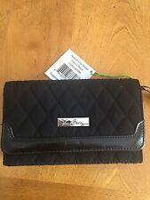 Vera Bradley Sleek & Chic Wallet Classic Black NWT