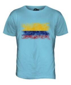Colombie Drapeau Délavé Hommes Haut T-Shirt Colombien Maillot de Football Cadeau