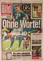BILD Zeitung München - 28.06.2018 - DEUTSCHLAND - SÜDKOREA 0:2 - WM 2018