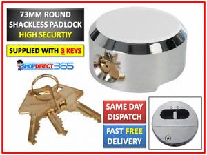 73MM ROUND CONCEALED VAN LOCK HIGH SECURITY STEEL PRO SHACKLELESS PADLOCK CT2797