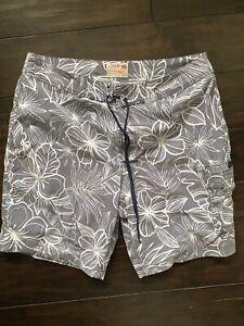 J.crew Flex Swimwear Size 32 Grey Floral Bathing Suit