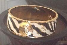 Genuine Coach Zebra Print Hinged Bangle Bracelet NWT