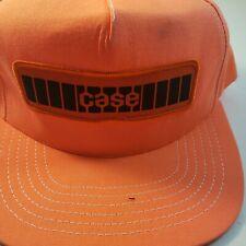 Case Vintage Trucker Style Hat Orange New Made In USA Snapback